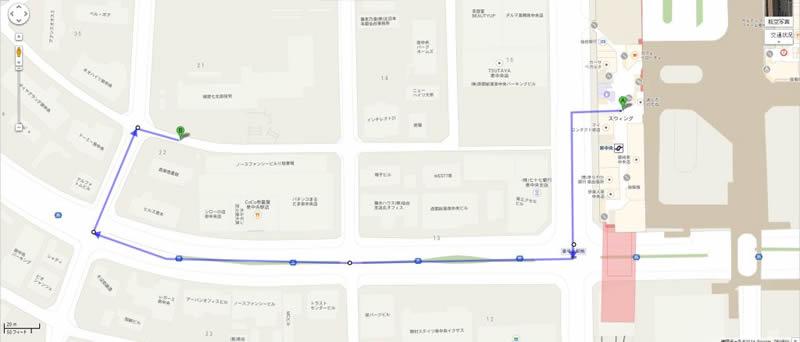 泉中央駅からの道順